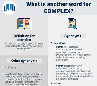 complex, synonym complex, another word for complex, words like complex, thesaurus complex