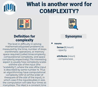 complexity, synonym complexity, another word for complexity, words like complexity, thesaurus complexity
