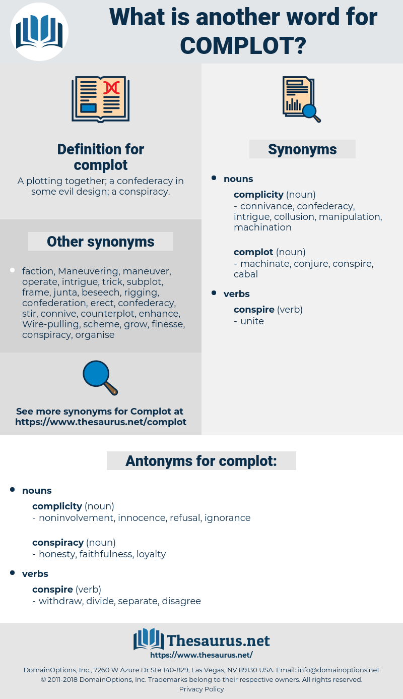 complot, synonym complot, another word for complot, words like complot, thesaurus complot