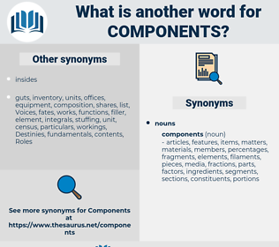 components, synonym components, another word for components, words like components, thesaurus components