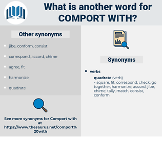 comport with, synonym comport with, another word for comport with, words like comport with, thesaurus comport with