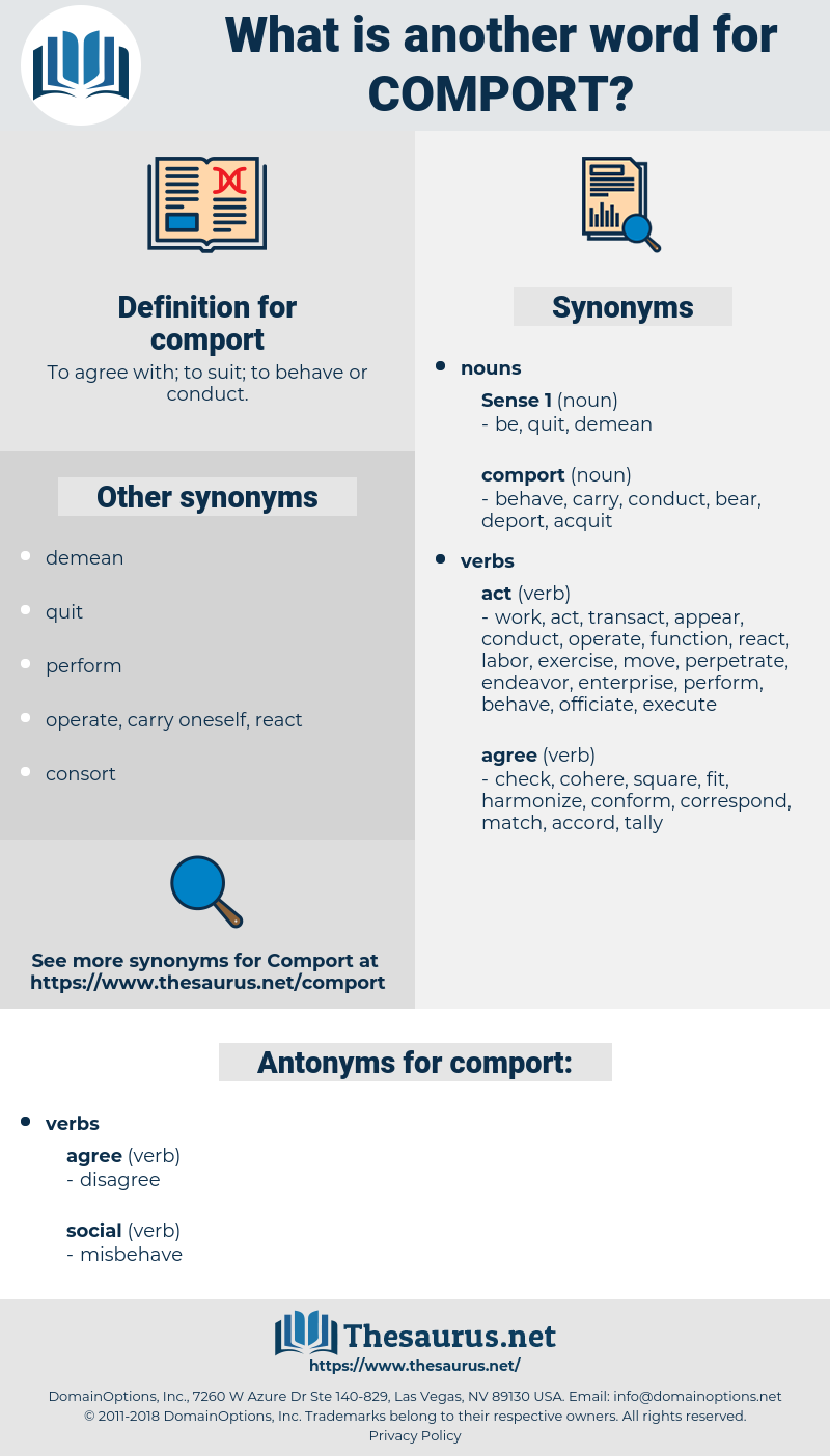 comport, synonym comport, another word for comport, words like comport, thesaurus comport