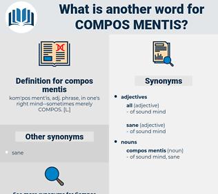 compos mentis, synonym compos mentis, another word for compos mentis, words like compos mentis, thesaurus compos mentis