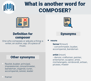 composer, synonym composer, another word for composer, words like composer, thesaurus composer
