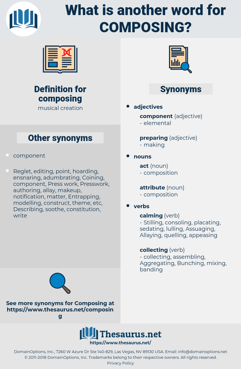 composing, synonym composing, another word for composing, words like composing, thesaurus composing