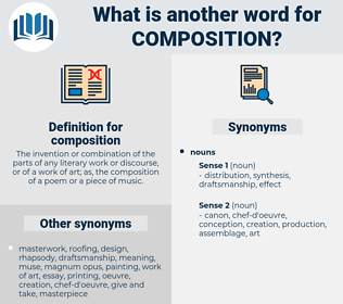 composition, synonym composition, another word for composition, words like composition, thesaurus composition