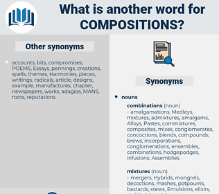 compositions, synonym compositions, another word for compositions, words like compositions, thesaurus compositions