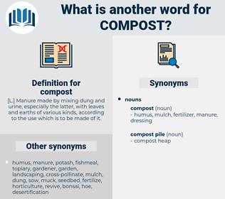 compost, synonym compost, another word for compost, words like compost, thesaurus compost