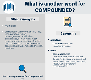 compounded, synonym compounded, another word for compounded, words like compounded, thesaurus compounded