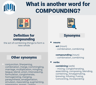 compounding, synonym compounding, another word for compounding, words like compounding, thesaurus compounding