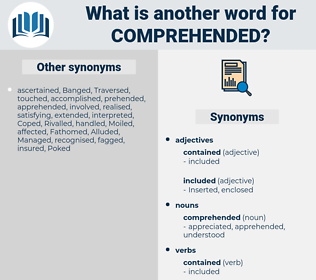 comprehended, synonym comprehended, another word for comprehended, words like comprehended, thesaurus comprehended
