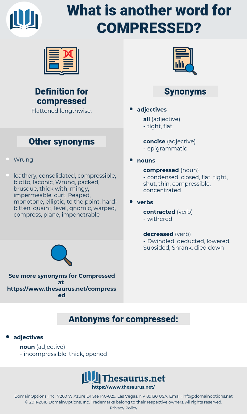 compressed, synonym compressed, another word for compressed, words like compressed, thesaurus compressed