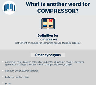 compressor, synonym compressor, another word for compressor, words like compressor, thesaurus compressor