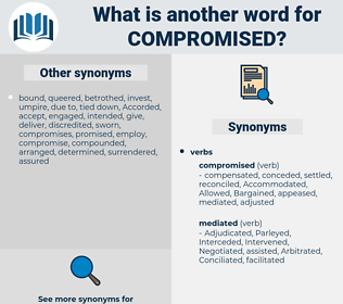 Compromised, synonym Compromised, another word for Compromised, words like Compromised, thesaurus Compromised