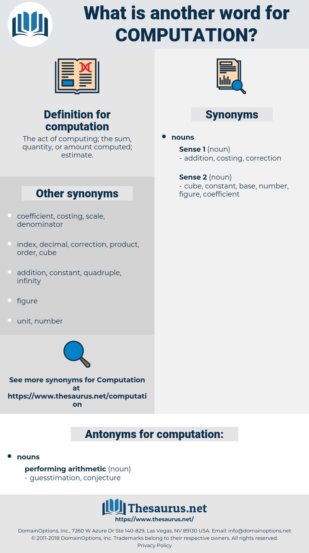 computation, synonym computation, another word for computation, words like computation, thesaurus computation