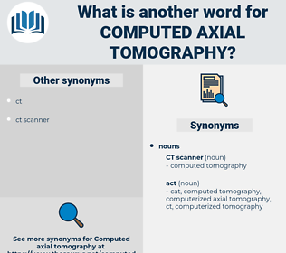 computed axial tomography, synonym computed axial tomography, another word for computed axial tomography, words like computed axial tomography, thesaurus computed axial tomography
