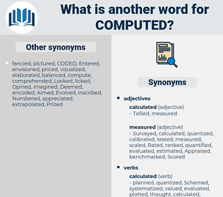 Computed, synonym Computed, another word for Computed, words like Computed, thesaurus Computed