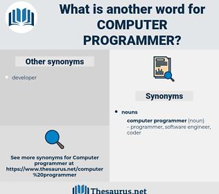 computer programmer, synonym computer programmer, another word for computer programmer, words like computer programmer, thesaurus computer programmer