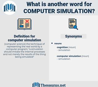 computer simulation, synonym computer simulation, another word for computer simulation, words like computer simulation, thesaurus computer simulation