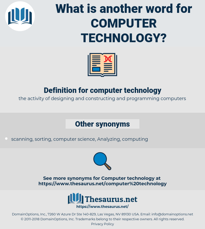 Synonyms for COMPUTER TECHNOLOGY - Thesaurus.net