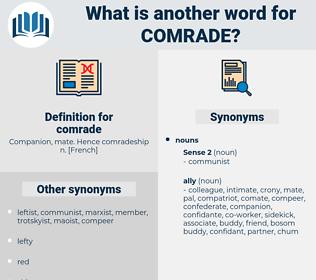 comrade, synonym comrade, another word for comrade, words like comrade, thesaurus comrade