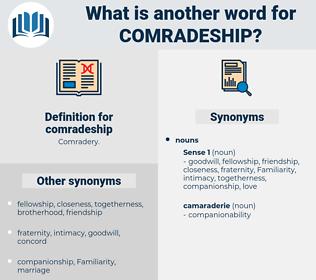 comradeship, synonym comradeship, another word for comradeship, words like comradeship, thesaurus comradeship