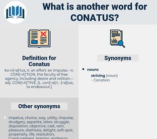 Conatus, synonym Conatus, another word for Conatus, words like Conatus, thesaurus Conatus