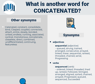 Concatenated, synonym Concatenated, another word for Concatenated, words like Concatenated, thesaurus Concatenated