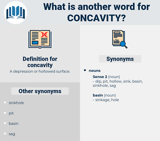 concavity, synonym concavity, another word for concavity, words like concavity, thesaurus concavity
