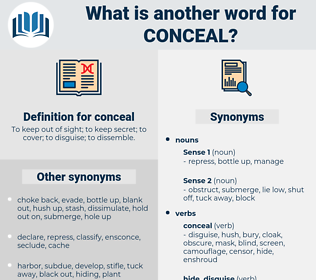 conceal, synonym conceal, another word for conceal, words like conceal, thesaurus conceal