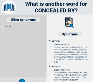 concealed by, synonym concealed by, another word for concealed by, words like concealed by, thesaurus concealed by
