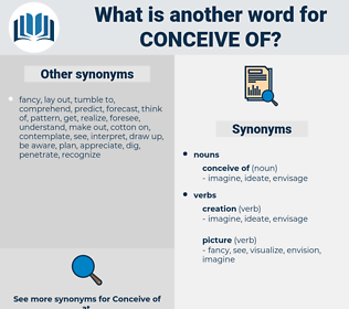 conceive of, synonym conceive of, another word for conceive of, words like conceive of, thesaurus conceive of