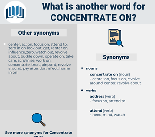 concentrate on, synonym concentrate on, another word for concentrate on, words like concentrate on, thesaurus concentrate on