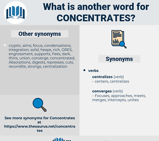 concentrates, synonym concentrates, another word for concentrates, words like concentrates, thesaurus concentrates