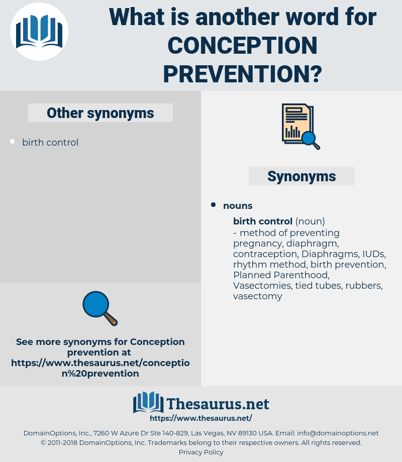 conception prevention, synonym conception prevention, another word for conception prevention, words like conception prevention, thesaurus conception prevention