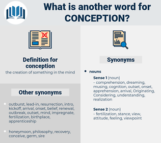 conception, synonym conception, another word for conception, words like conception, thesaurus conception