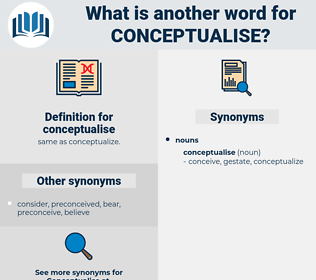 conceptualise, synonym conceptualise, another word for conceptualise, words like conceptualise, thesaurus conceptualise