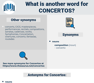 Concertos, synonym Concertos, another word for Concertos, words like Concertos, thesaurus Concertos