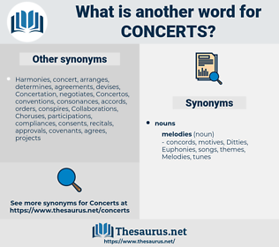 concerts, synonym concerts, another word for concerts, words like concerts, thesaurus concerts