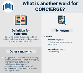 concierge, synonym concierge, another word for concierge, words like concierge, thesaurus concierge