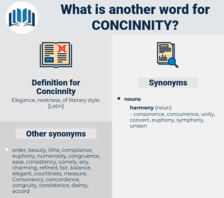 Concinnity, synonym Concinnity, another word for Concinnity, words like Concinnity, thesaurus Concinnity