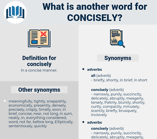 concisely, synonym concisely, another word for concisely, words like concisely, thesaurus concisely