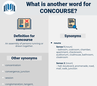 concourse, synonym concourse, another word for concourse, words like concourse, thesaurus concourse