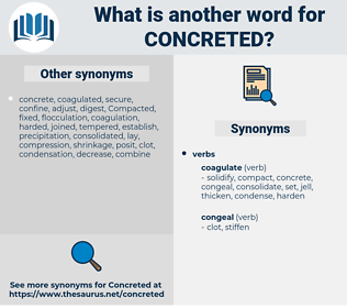 Concreted, synonym Concreted, another word for Concreted, words like Concreted, thesaurus Concreted