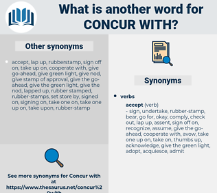 concur with, synonym concur with, another word for concur with, words like concur with, thesaurus concur with