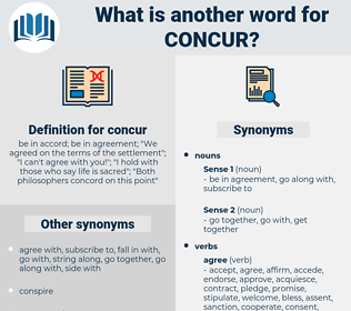 concur, synonym concur, another word for concur, words like concur, thesaurus concur