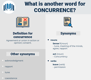 concurrence, synonym concurrence, another word for concurrence, words like concurrence, thesaurus concurrence