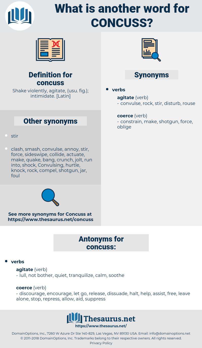 concuss, synonym concuss, another word for concuss, words like concuss, thesaurus concuss