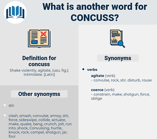 concuss, synonym concuss, another word for concuss, words like concuss, thesaurus concuss