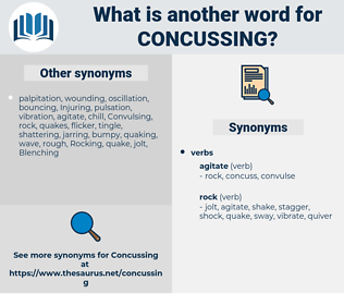 concussing, synonym concussing, another word for concussing, words like concussing, thesaurus concussing